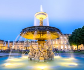 Famous fountains around the world Stock Photo 10