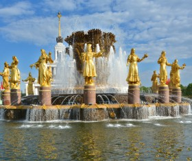 Famous fountains around the world Stock Photo 15