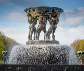 Famous fountains around the world Stock Photo 16