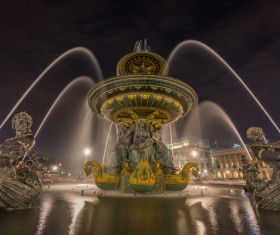 Famous fountains around the world Stock Photo 17