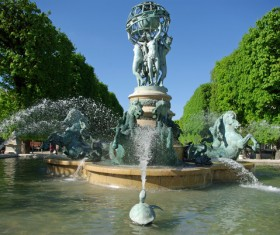 Famous fountains around the world Stock Photo 23
