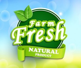 Farm fresh nature product labels vector
