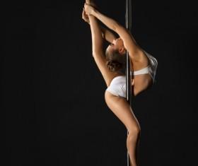 Female pipe dancer Stock Photo 01