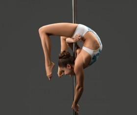 Female pipe dancer Stock Photo 03