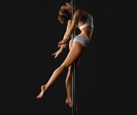 Female pipe dancer Stock Photo 04