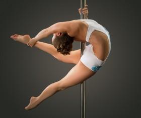 Female pipe dancer Stock Photo 05