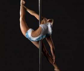 Female pipe dancer Stock Photo 07