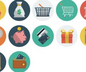 Financial and shopping vintage icons