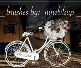 Flower basket bike photoshop brushes