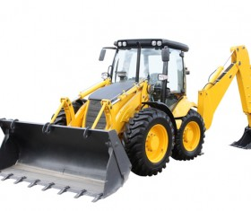 Forklifts and trenchers Stock Photo