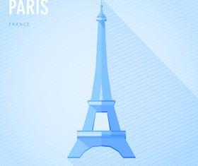 France paris monuments vector