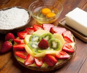 Fruit dessert production Stock Photo