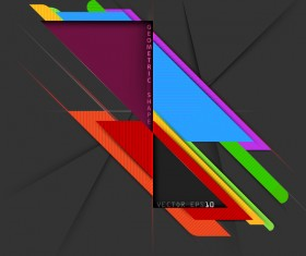 Geometric colors shape with black background vector 01