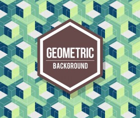 Geometric pattern with retro background vector 12
