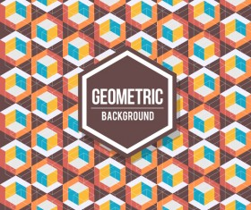 Geometric pattern with retro background vector 13