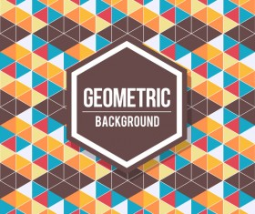 Geometric pattern with retro background vector 16