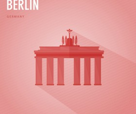 Germany berlin monuments vector
