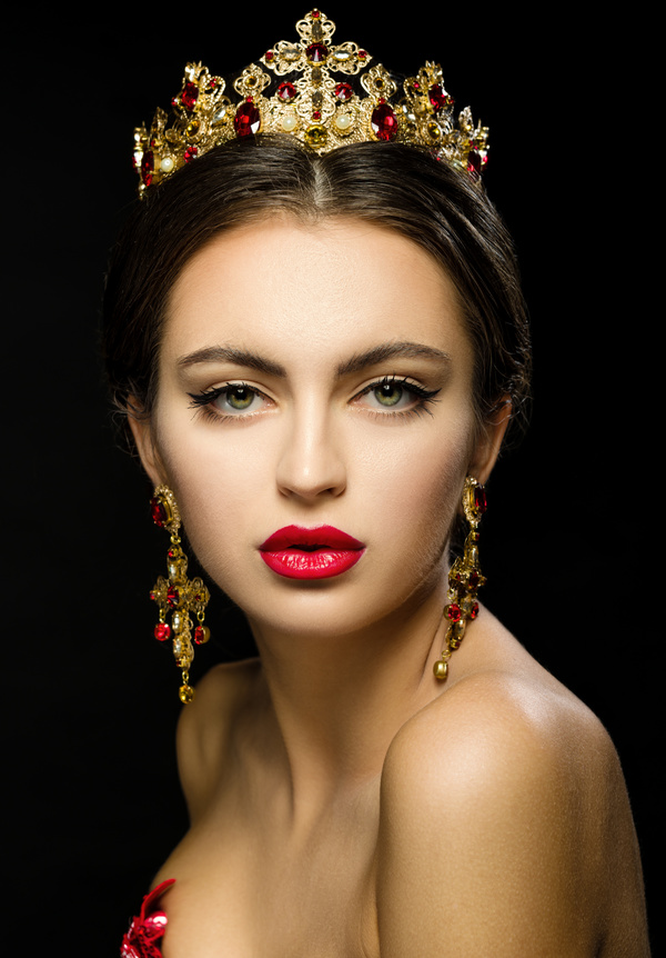 Girl With Crown Jewelery Hd Picture People Stock Photo