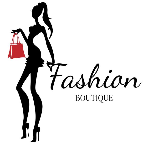 Girl with fashion boutique illustration vector 02