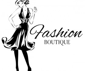 Girl with fashion boutique illustration vector 10