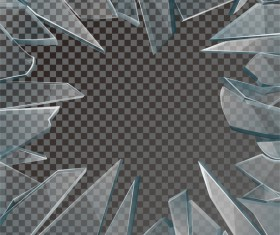 Glass broken background illustration vector 04