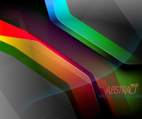 Glossy colors shape with black background vector
