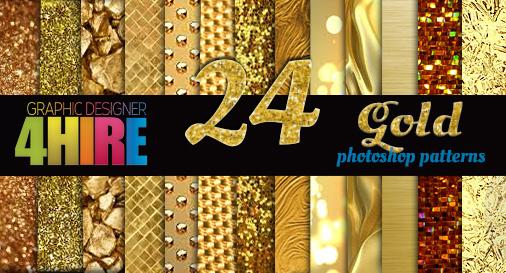 Gold Photoshop Patterns