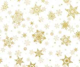 Gold snowflakes seamless pattern with white backgrounds vector 01