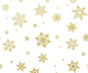 Gold snowflakes seamless pattern with white backgrounds vector 02
