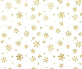 Gold snowflakes seamless pattern with white backgrounds vector 03