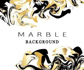 Golden with black marble textured background vector 02