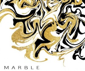 Golden with black marble textured background vector 04