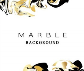 Golden with black marble textured background vector 05