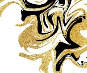 Golden with black marble textured background vector 06