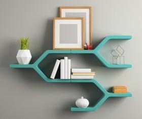 Gray wall decoration frame Stock Photo