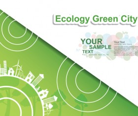 Green ecology friendly infographic design vector 10