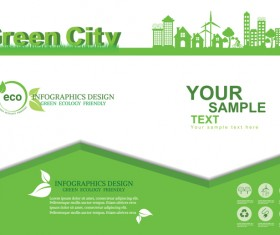 Green ecology friendly infographic design vector 13