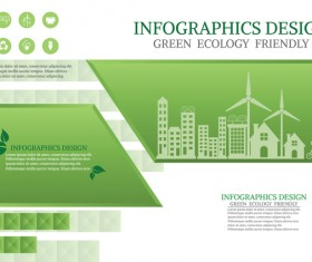 Green ecology friendly infographic design vector 15