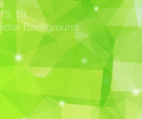 Green geometric polygon background vector material