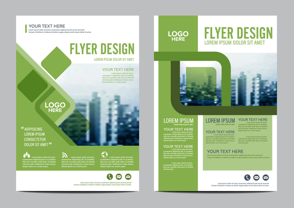 green styles book and brochure cover vector 05 free download