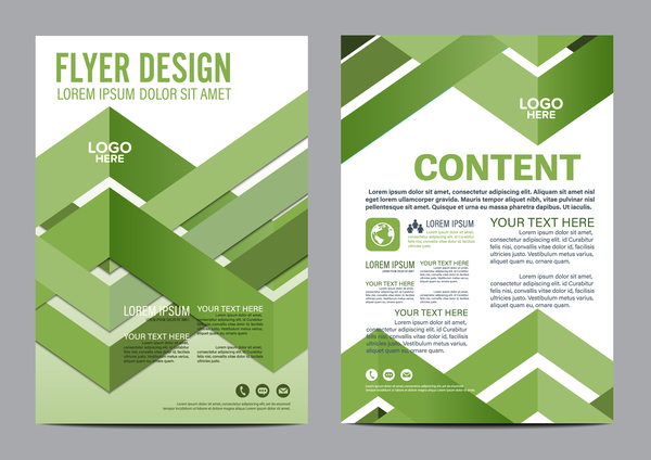 Green Styles Book And Brochure Cover Vector 12