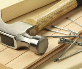 Hammers and nails Stock Photo
