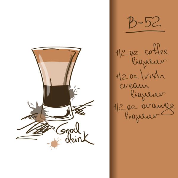 Hand drawn drank poster vectors 01