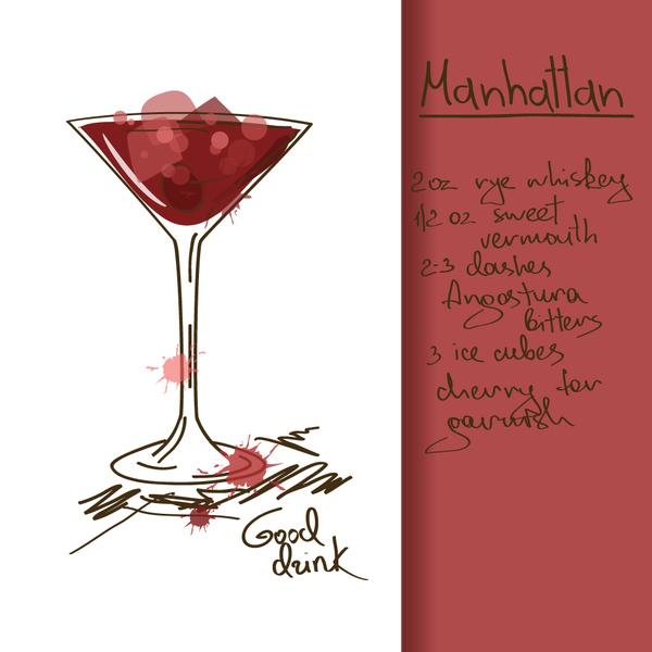 Hand drawn drank poster vectors 06