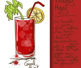 Hand drawn drank poster vectors 08