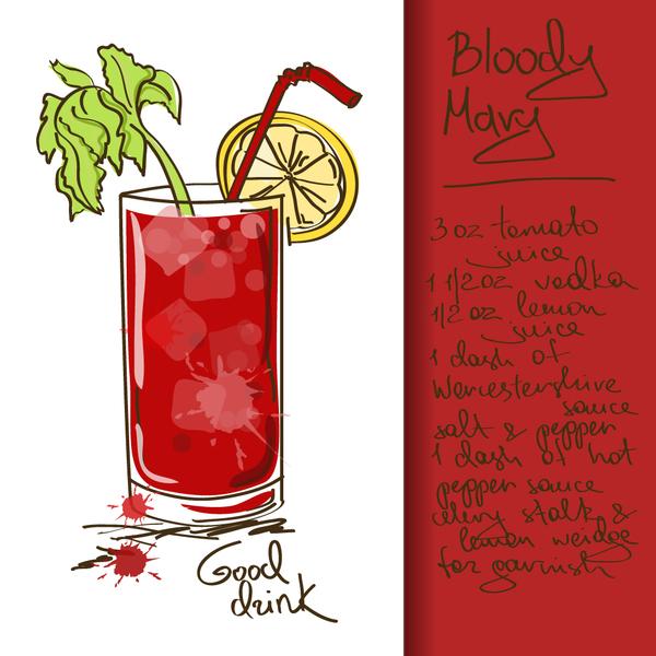 Hand drawn drank poster vectors 08