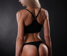 Hand-held dumbbell fitness female HD picture