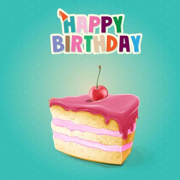 Birthday Cake Image Upload : Happy birthday cake card vectors - Vector Birthday, Vector ...