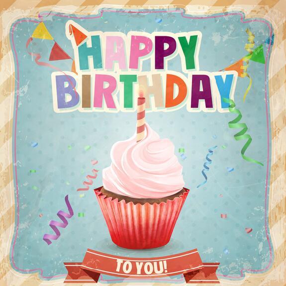 Happy birthday vintage template vectors 02 Vector Birthday free