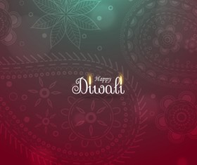 Happy diwali creative vector background